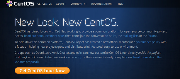 CentOS new website